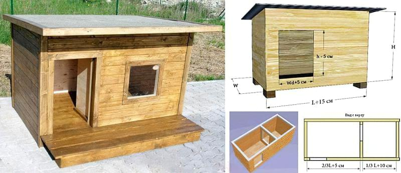 Вулична будка для собаки: будиночок і буда, літня, зимова, для виводка та інші 2