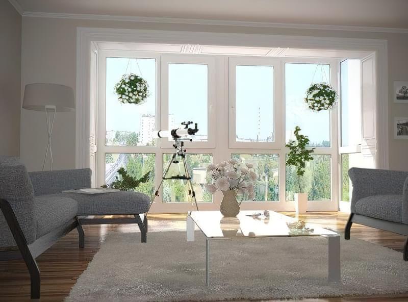 Ідеї дизайну лоджії: переробка і суміщення з кімнатою і кухнею 8