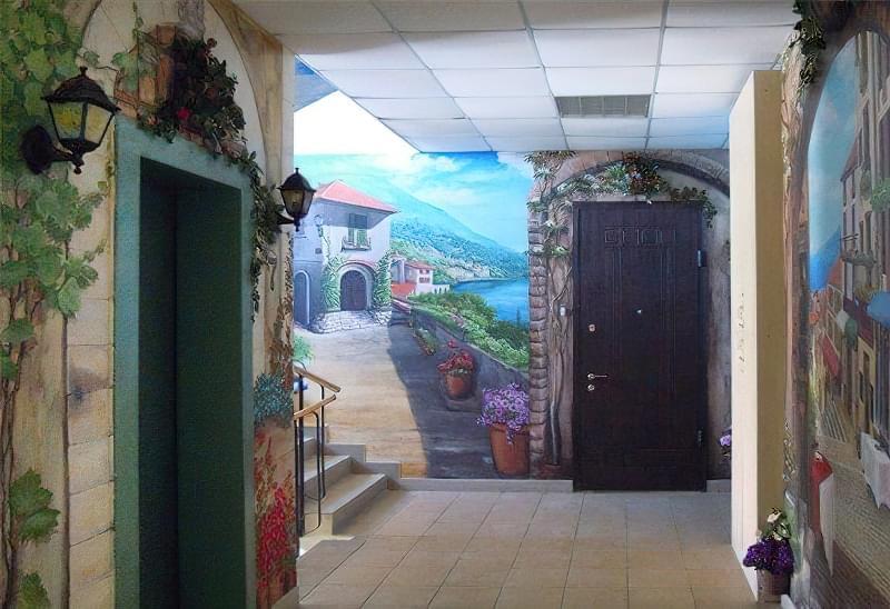 Розпис стіни в інтер'єрі офісу