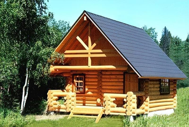 Дерев'яна лазня будова