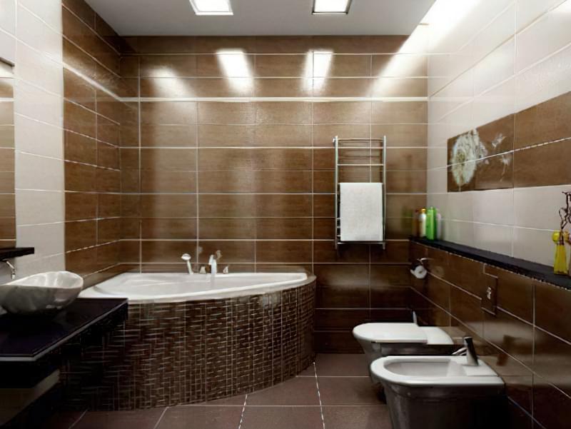 Дизайн суміщеного санвузла з ванною 1