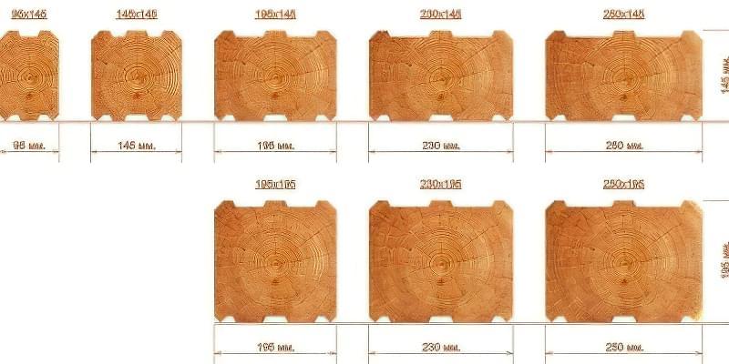 Переваги і недоліки, види та розміри профільованого бруса 1