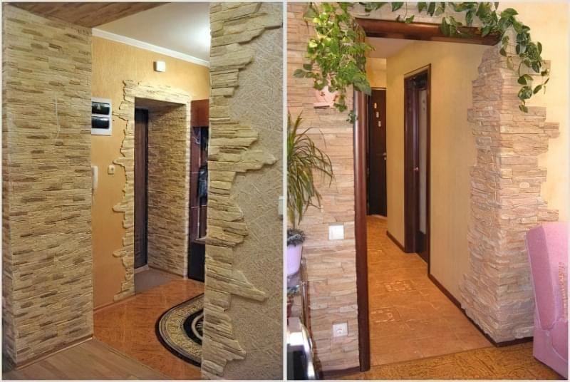 Оздоблення арок і дверних прорізів декоративним каменем