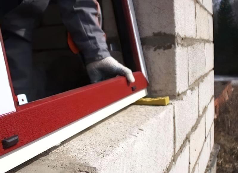 Установка вікон у будинку з газобетону або піноблоків