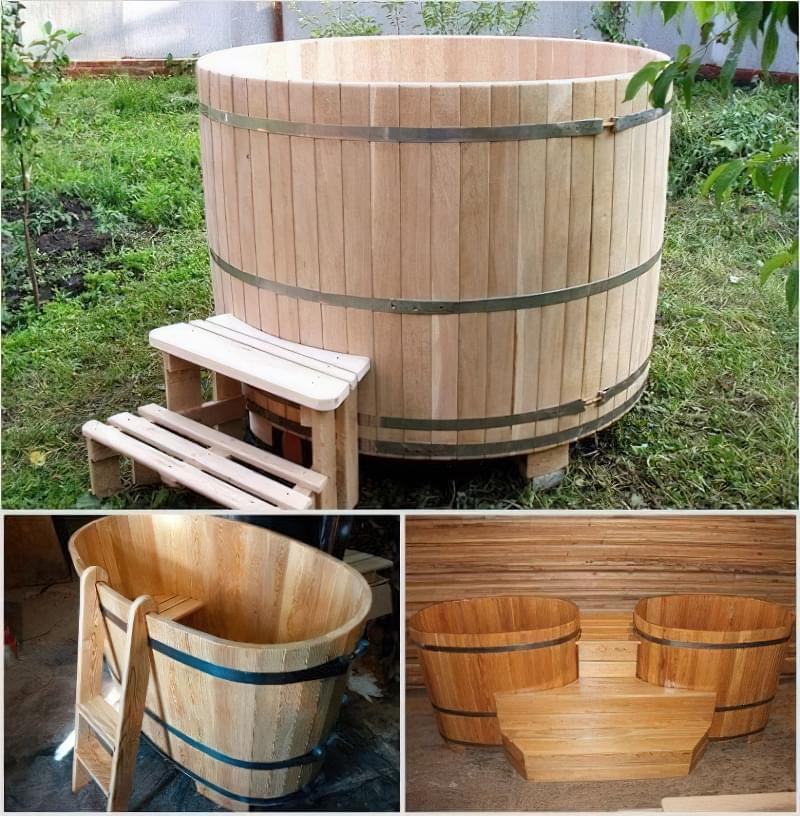 Банні купелі з вбудованою дров'яної грубкою