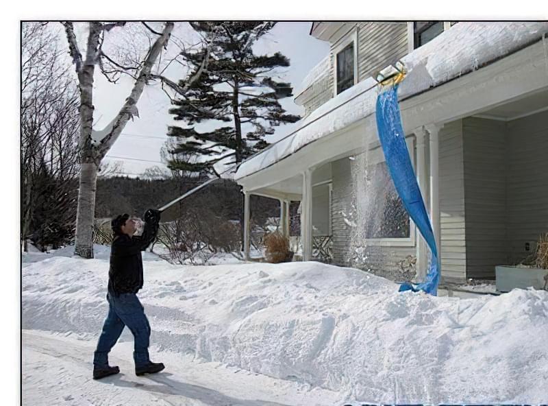 Лопата для прибирання снігу з даху