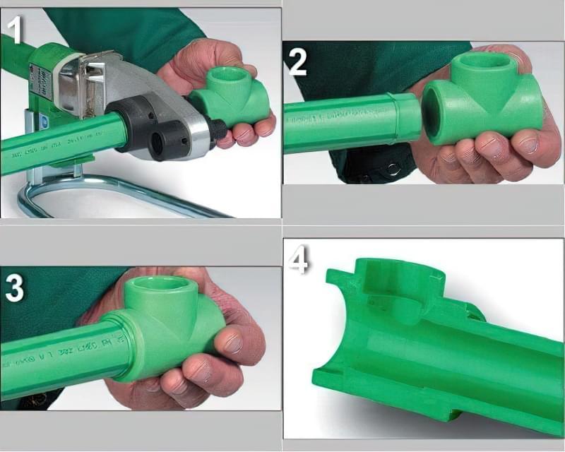 З'єднання поліпропіленових труб з металопластиковими