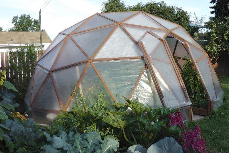 Фото №2 Геодезичний купол - ідеальна форма компактної теплиці