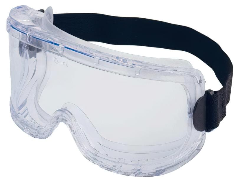 Хімостійкі окуляри (Amparo) c непрямою вентиляцією, з прозорими лінзами з ацетату.