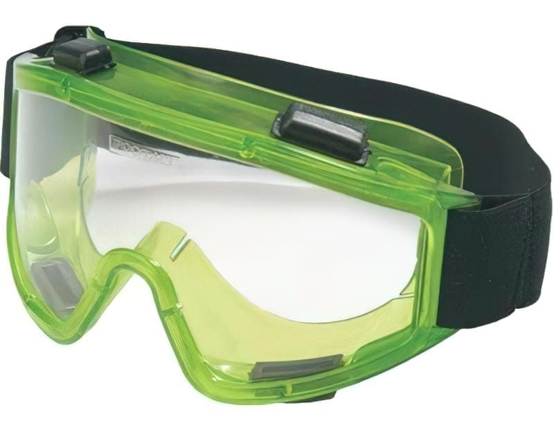 Типові окуляри для захисту очей від механічних частинок, осколків, іскор при роботі з інструментом (РОСОМЗ ЗН11 PANORAMA, тримають удар до 3кДж)