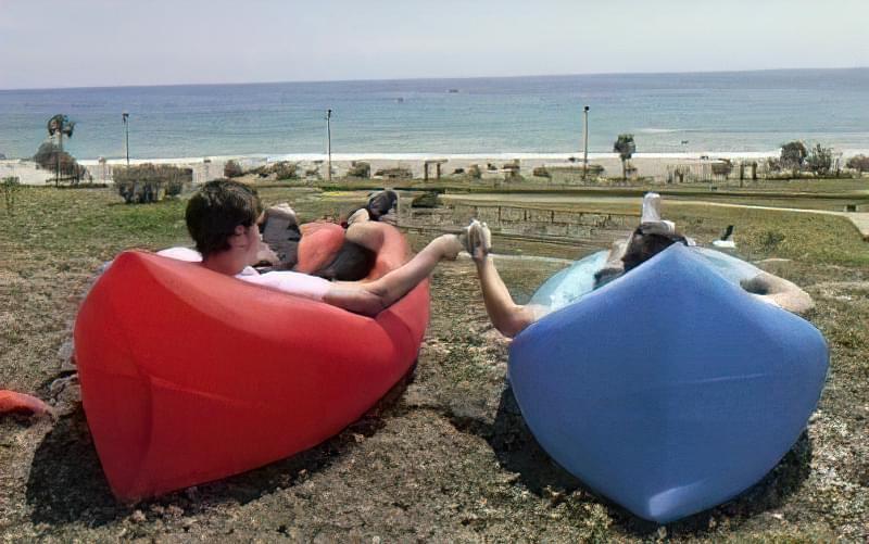 Lamzac Hangout (Ламзак) - надувний шезлонг, крісло-диван і гамак в одній речі! 46