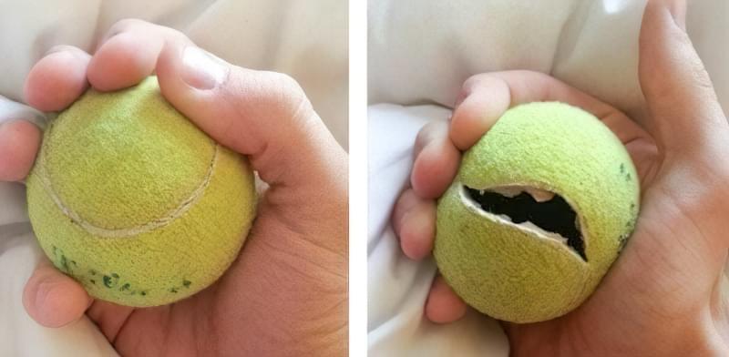 Тайник в тенісному м'ячі