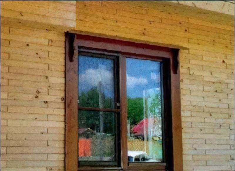 Будинок з дерев'яної цегли