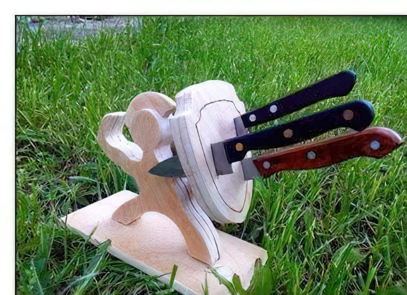 Як зробити підставку для ножів своїми руками 39