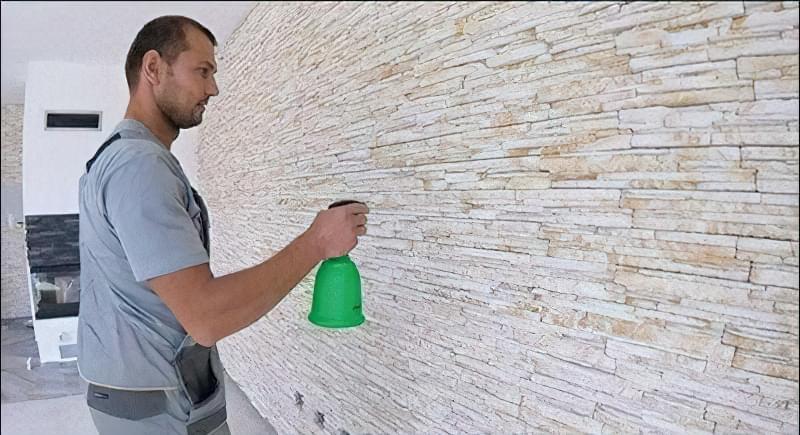 Укладання декоративного каменю фото