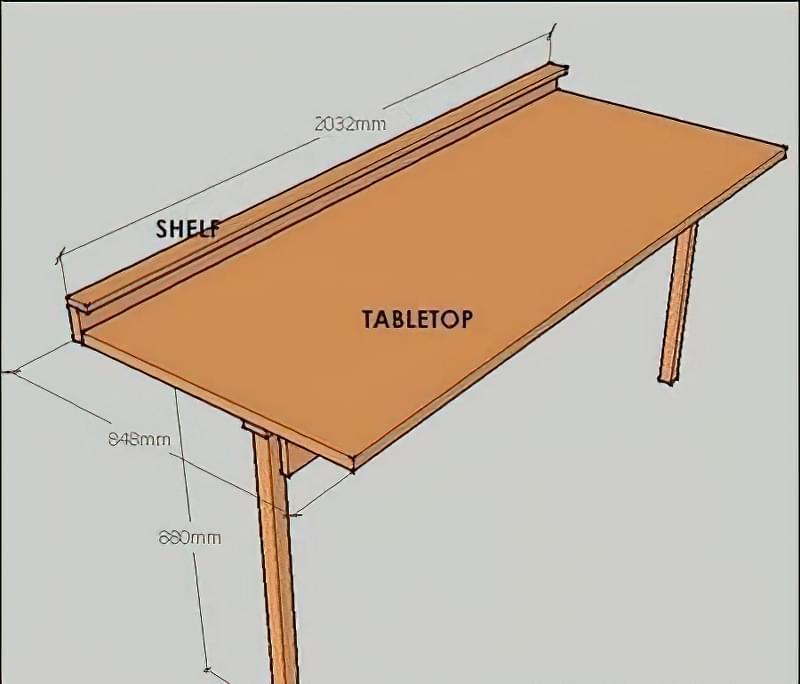 Відкидний стіл в гараж