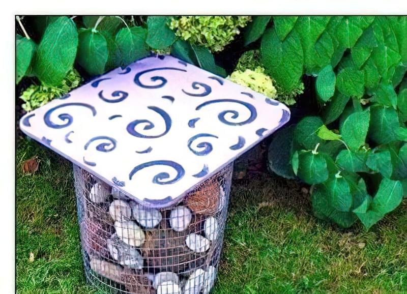Садовий пуф-габіон: опис, майстер-клас, фото 39