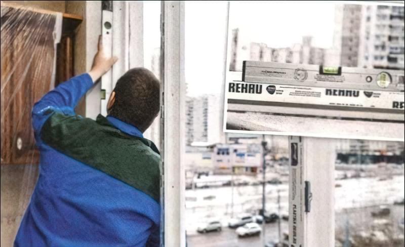 установка вікон-фото