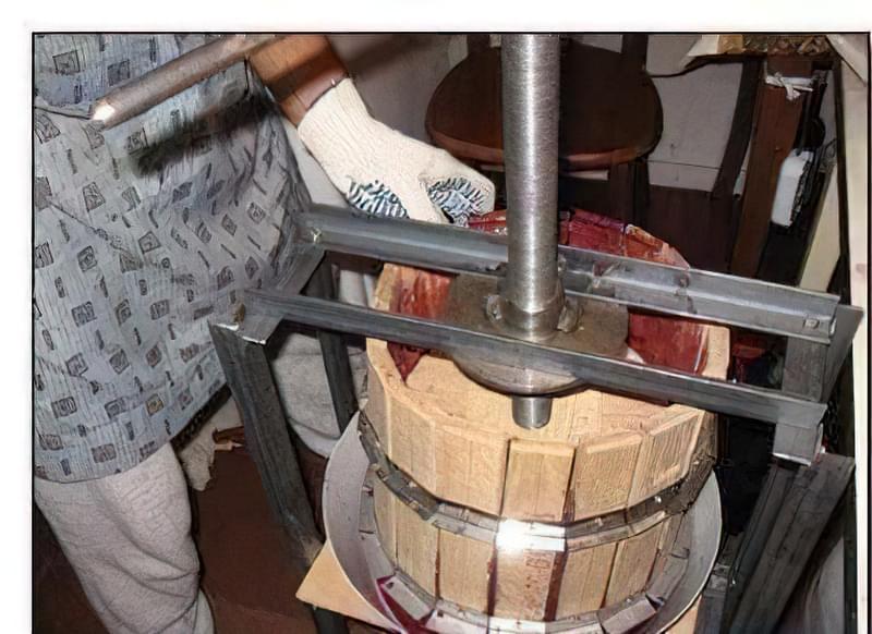 Прес для винограду і ягід своїми руками 5