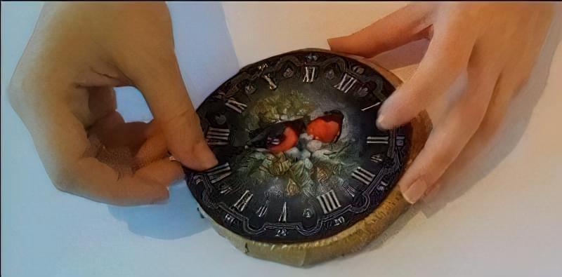 Новорічний годинник своїми руками