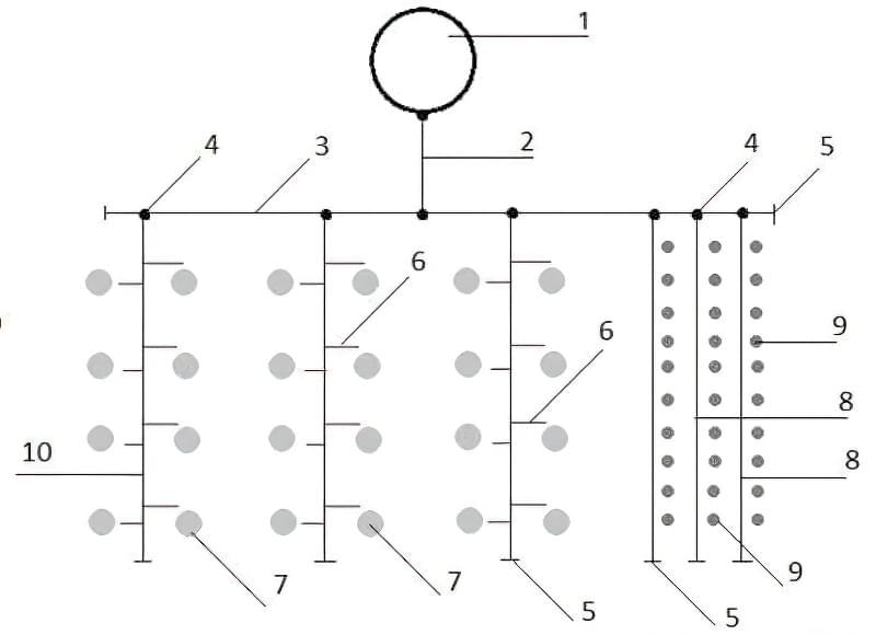 схема крапельного поливу