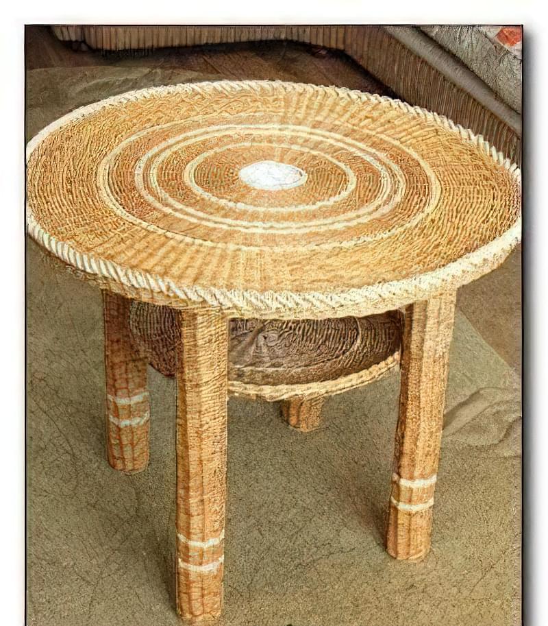 Плетіння з трубочок: журнальний столик 1