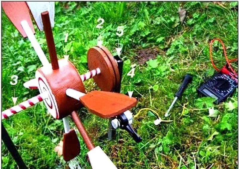 зарядний пристрій для мобільного-вітряк