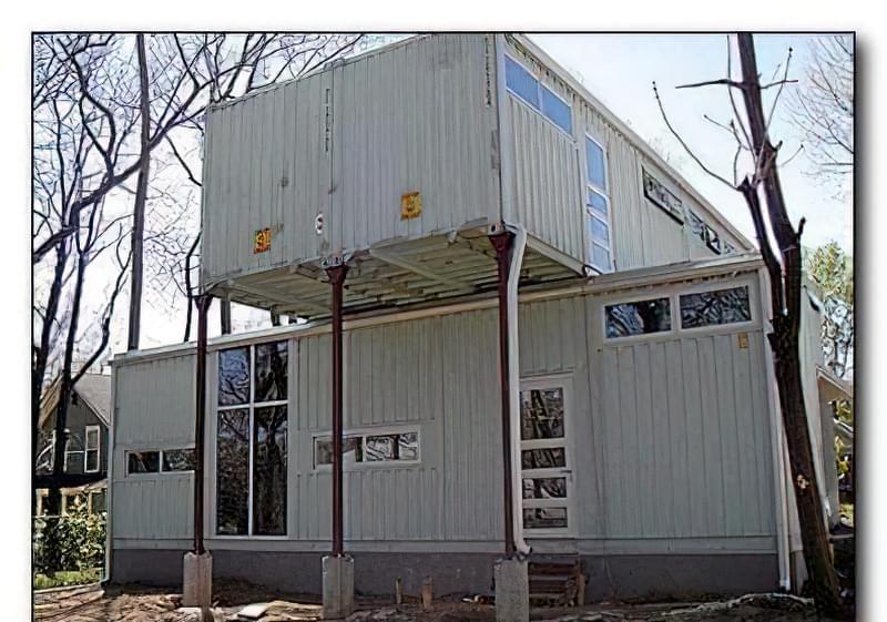 Дешевий будинок з контейнерів, проекти будинків, фото 48