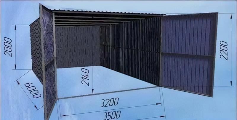 Креслення гаража з профнастилу