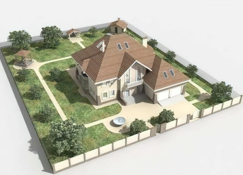 Ландшафтний дизайн і планування маленької земельної ділянки 4