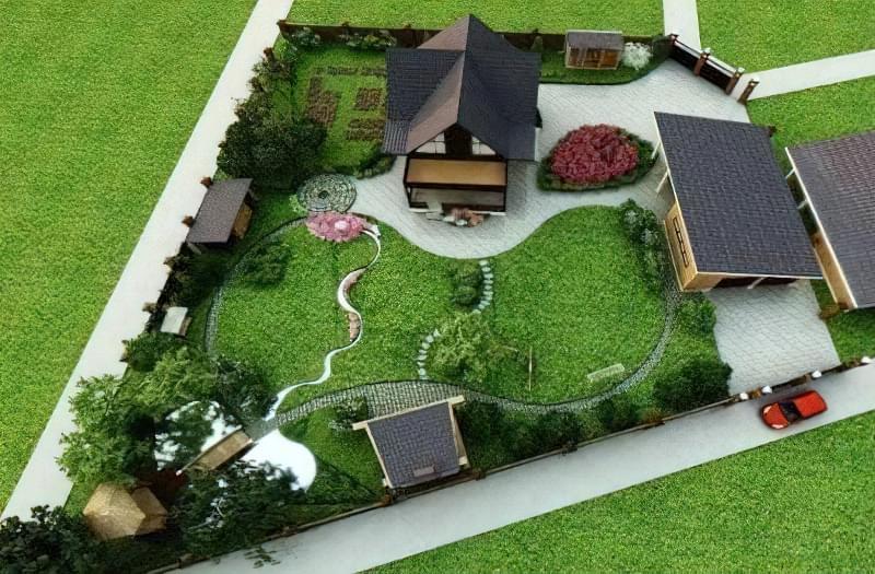 Ландшафтний дизайн і планування маленької земельної ділянки 7