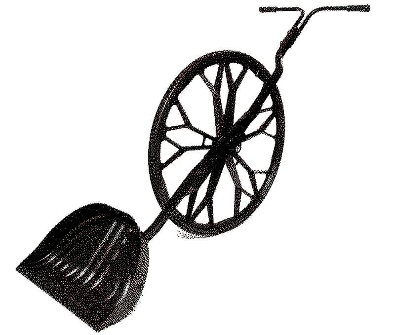 Одноколісна лопата