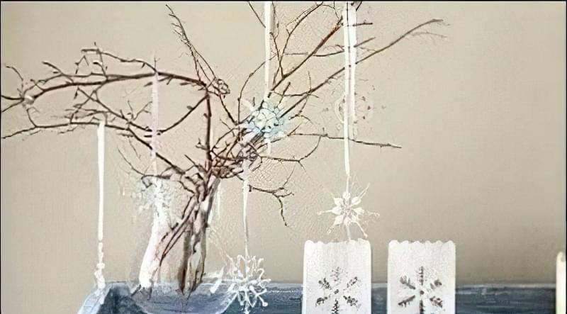 Сніжинки з бісеру і намистин
