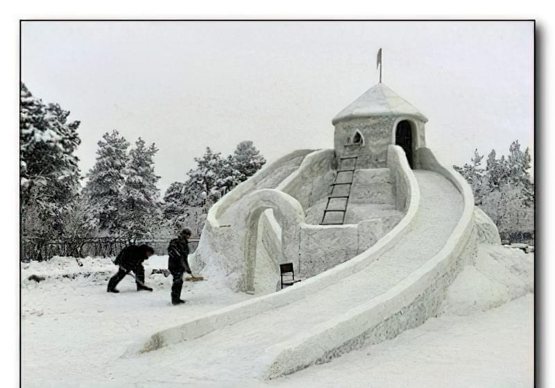 Як побудувати снігову гірку своїми руками 22