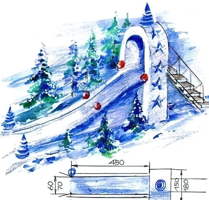 Як побудувати снігову гірку своїми руками 6