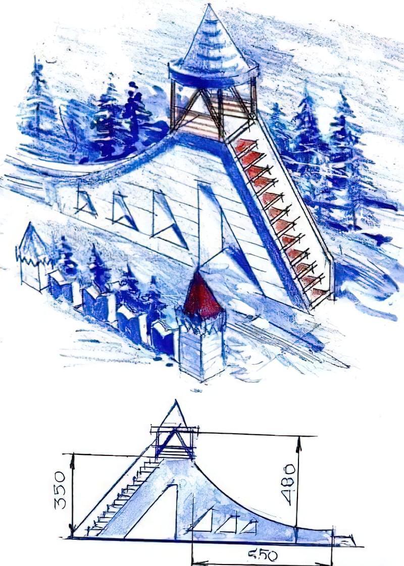 Як побудувати снігову гірку своїми руками 2