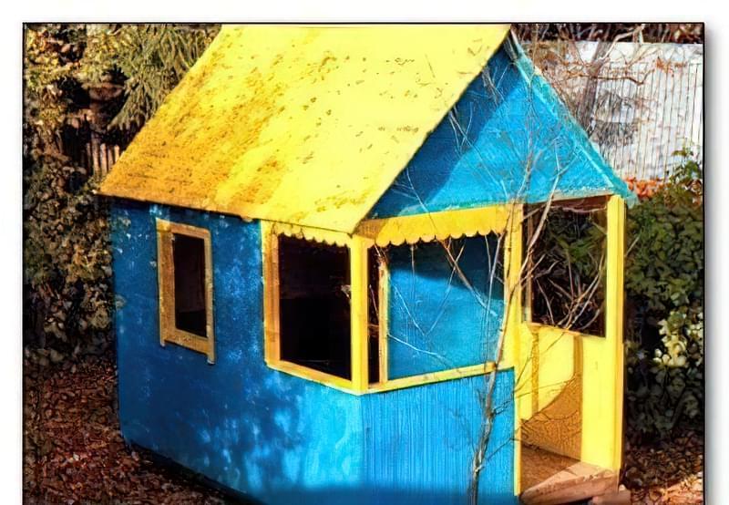 Дитячий будиночок з дерева 33