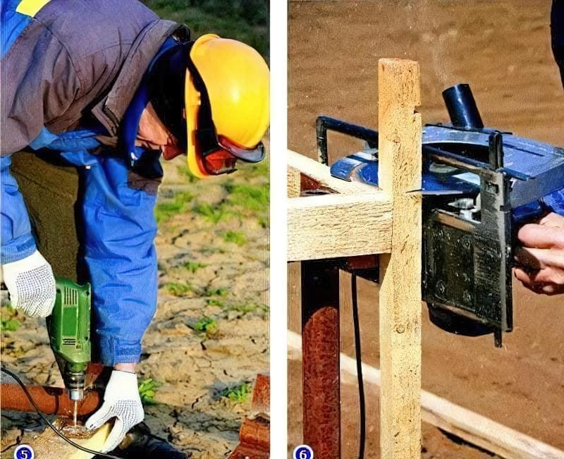 дерев'яні стійки -фото