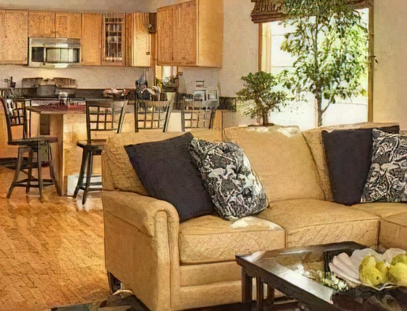 Інтер'єр і планування кухні-вітальні в приватному будинку: популярні дизайнерські рішення 76