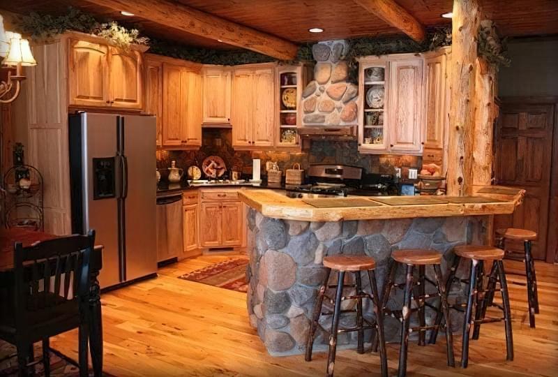 Інтер'єр і планування кухні-вітальні в приватному будинку: популярні дизайнерські рішення 11