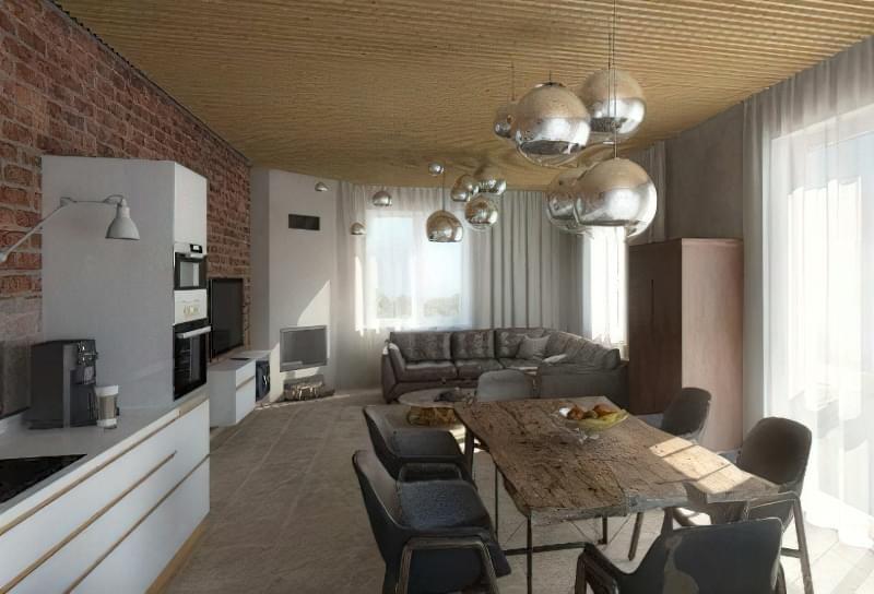 Інтер'єр і планування кухні-вітальні в приватному будинку: популярні дизайнерські рішення 2