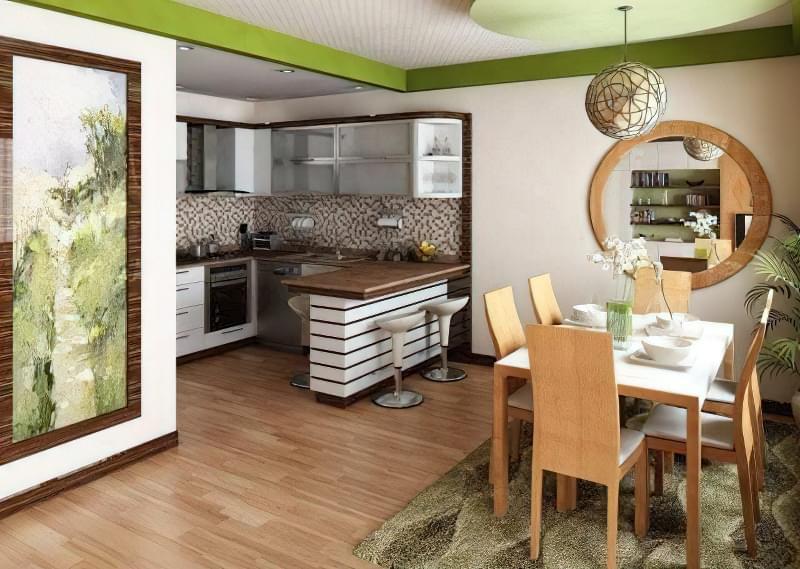 Інтер'єр і планування кухні-вітальні в приватному будинку: популярні дизайнерські рішення 21