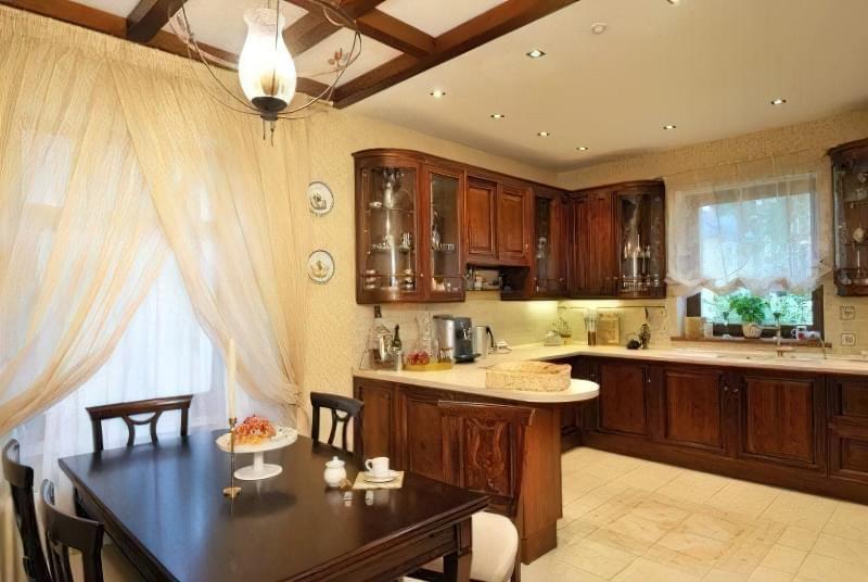 Інтер'єр і планування кухні-вітальні в приватному будинку: популярні дизайнерські рішення 9