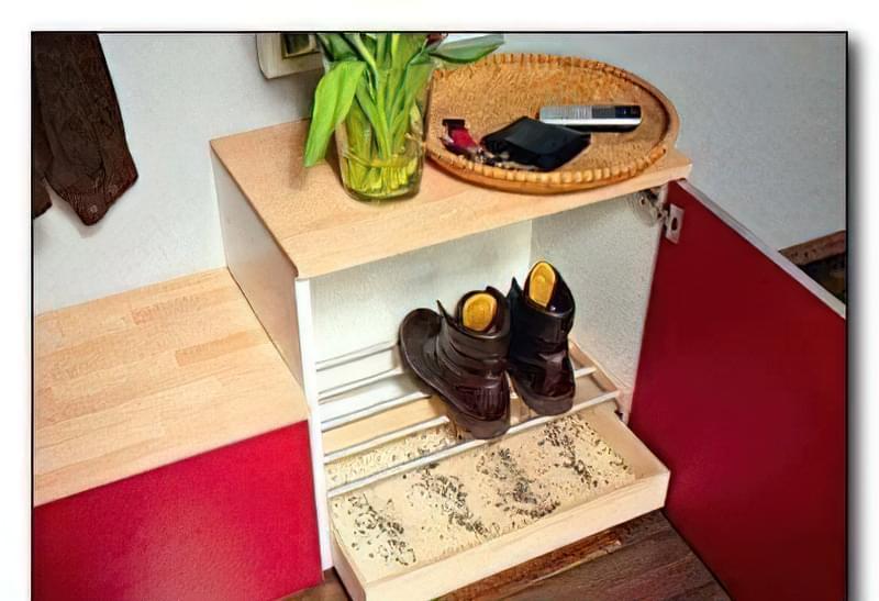 Конструкція шафи для брудного взуття 98