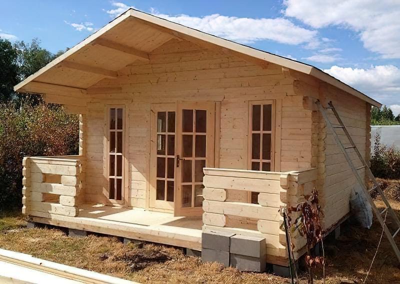 Мінібрус - матеріал для будівництва садових будиночків, бань та альтанок 13