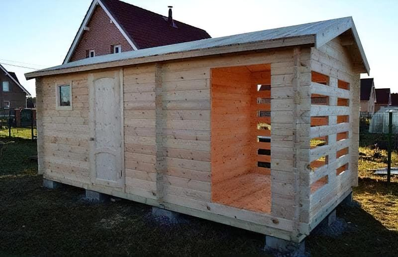 Мінібрус - матеріал для будівництва садових будиночків, бань та альтанок 11