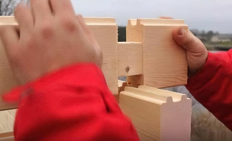Мінібрус - матеріал для будівництва садових будиночків, бань та альтанок 5