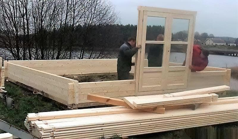 Мінібрус - матеріал для будівництва садових будиночків, бань та альтанок 7