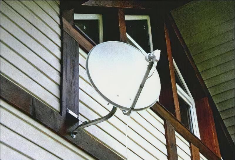 Установка супутникової антени