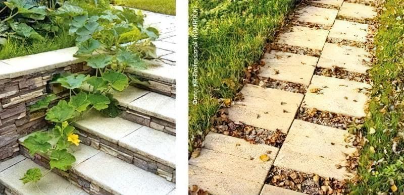 Фото садовые дорожки из плитки своими руками